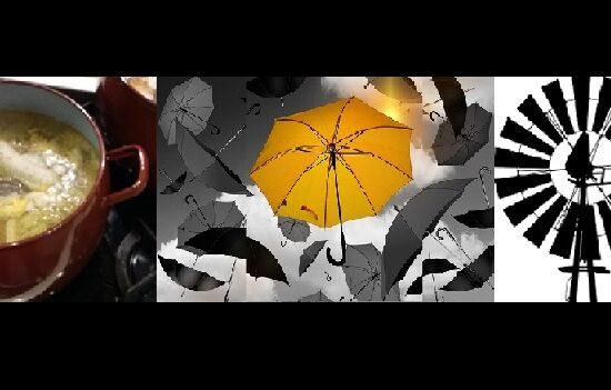 El caldo, el paraguas y el ventilador
